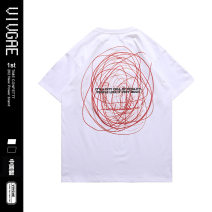 T-shirt Youth fashion Black, white routine S,XL,L,M,XXL VIVGAE Short sleeve Crew neck easy Other leisure summer VJ017 teenagers routine American leisure other 2021 other printing Cotton ammonia