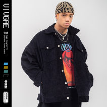 Jacket VIVGAE Fashion City Black, blue, green, brown XL,L,M,XXL routine easy Other leisure winter lf37-1 Long sleeves Wear out No collar American leisure youth Medium length Zipper placket 2020 Straight hem Regular sleeve Solid color Chemical fiber blend printing Three dimensional bag other