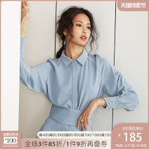 Dress Spring of 2019 XS S M L XL Mid length dress singleton  Long sleeves commute square neck High waist Solid color Single breasted A-line skirt shirt sleeve Others 25-29 years old Type A Van schlan Ol style Lace up button More than 95% Chiffon other New polyester fiber 100%