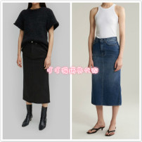 skirt Summer of 2019 XXS,XS,S,M,L Washed blue spot, black spot, not suitable for small waist and large hip