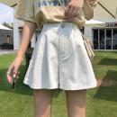Casual pants Apricot, white, black Average size Summer 2021 shorts Wide leg pants High waist commute routine 18-24 years old 71% (inclusive) - 80% (inclusive) 2989H Korean version cotton