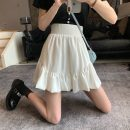 skirt Summer 2021 S,M,L White, black Short skirt commute High waist A-line skirt Solid color Type A 18-24 years old 1312X 71% (inclusive) - 80% (inclusive) polyester fiber Korean version