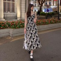 Dress Summer 2021 Picture color Average size Mid length dress singleton  commute V-neck High waist Socket camisole 18-24 years old Type A Korean version 6847H 81% (inclusive) - 90% (inclusive) polyester fiber