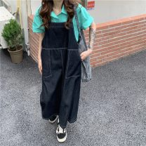 Fashion suit Summer 2021 Average size Yellow shirt, green shirt, light blue strap skirt, black strap skirt 18-25 years old 3886X 51% (inclusive) - 70% (inclusive) cotton