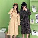 Dress Summer 2021 Apricot, yellow, black Average size Middle-skirt singleton  Long sleeves commute V-neck Elastic waist Decor Socket A-line skirt Lotus leaf sleeve 18-24 years old Type A Korean version 8050X 51% (inclusive) - 70% (inclusive) polyester fiber