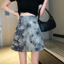 skirt Summer 2020 S,M,L Blue black, grey coffee Short skirt commute High waist A-line skirt Type A 18-24 years old 7176H 91% (inclusive) - 95% (inclusive) polyester fiber Korean version