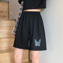 Casual pants Gray, black Average size Summer 2021 Pant Wide leg pants High waist commute routine 18-24 years old 31% (inclusive) - 50% (inclusive) 9176F Korean version cotton