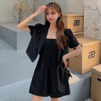 Fashion suit Summer 2021 S, M Black coat, black jumpsuit, white jumpsuit 18-25 years old 6208M 51% (inclusive) - 70% (inclusive) polyester fiber