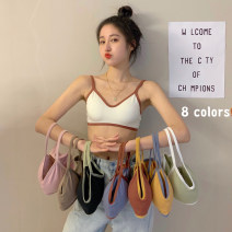 Bras Light green, white, blue, black, pink, coffee, brick red Average size Type V Detachable shoulder strap Rear three row buckle Wireless  3/4 Other / other Developmental students (7-18 years old) ventilation Thick cup No insert 1513F cotton 21% (inclusive) - 40% (inclusive) cotton