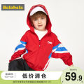 Plain coat Bala male 90cm,100cm,110cm,120cm,130cm Black 9000, Chinese red 6620 spring and autumn leisure time Zipper shirt There are models in the real shooting Thin money No detachable cap stripe blending other Polyester 100% other