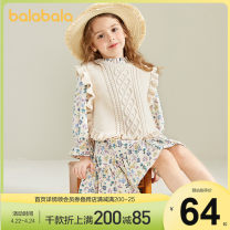 Vest sling Sleeveless 90cm,100cm,110cm,120cm,130cm spring and autumn Bala female There are models in the real shooting leisure time stripe Crew neck nothing blending other 12 months, 18 months, 2 years old, 3 years old, 4 years old, 5 years old, 6 years old
