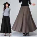 skirt Spring 2020 longuette Versatile High waist A-line skirt Decor Type A 30% and below other hemp