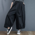 Casual pants Apricot, black, army green Average size [100-140 kg] Spring 2021 Ninth pants Wide leg pants High waist commute routine 18-24 years old 51% (inclusive) - 70% (inclusive) cotton literature pocket cotton