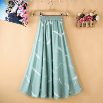 skirt Summer of 2019 One size fits 75cm for 156-166 85CM 65cm Decor a decor B Decor C Decor D Decor e Decor f Decor g Decor h Decor J Decor K Decor m Decor n Mid length dress commute High waist A-line skirt Broken flowers Type A 18-24 years old More than 95% Zeyalan polyester fiber Korean version