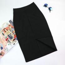 skirt Summer 2017 S,M,L,XL,2XL black Mid length dress commute High waist skirt Ol style