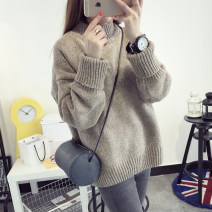 Wool knitwear Autumn of 2018 Average size Long sleeves singleton  Socket other 51% (inclusive) - 70% (inclusive) have cash less than that is registered in the accounts routine commute easy Half height crew neck routine Solid color Socket Korean version 18-24 years old Other / other