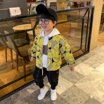 Plain coat Other / other male 90cm,100cm Yellow, white spring and autumn leisure time Zipper shirt There are models in the real shooting routine nothing other Cotton blended fabric other CWK4185 Other 100% Class B