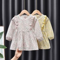 Dress female Other / other 80, 90, 100, 110, 120, 130 Other 100% spring and autumn Countryside Long sleeves Broken flowers cotton Pleats Class B 9 months, 18 months, 2 years old, 3 years old, 4 years old, 5 years old, 6 years old, 7 years old Chinese Mainland Guangdong Province Guangzhou City