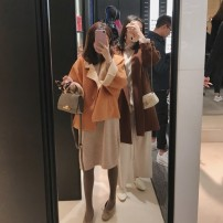 woolen coat Winter 2020 XS,S,M,L Cream apricot orange coat spot, cream apricot orange skirt spot, cranberry powder coat spot wool 95% and above routine Long sleeves commute Solid color Korean version my Little mushroom biu 25-29 years old