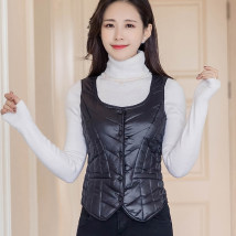Vest Winter of 2019 Black, red, pink, rose, fuchsia M,L,XL,2XL,3XL have cash less than that is registered in the accounts Crew neck commute stripe Single breasted 1915 twill female vest other 35-39 years old Love Heron 96% and above other