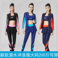 Split swimsuit Kaiyu wave Skirt split swimsuit With chest pad without steel support spandex female Crew neck