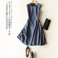 Dress Spring 2020 S,M,L,XL,2XL Short skirt singleton  Sleeveless street Crew neck middle-waisted Socket Type A Europe and America