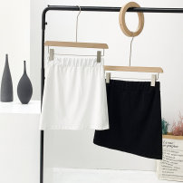 skirt Summer 2021 M (recommended 80-100 kg), l (recommended 100-120 kg), XL (recommended 120-140 kg), XXL (recommended 140-160 kg) Black, white, collect + shopping cart = lightning delivery Short skirt commute High waist A-line skirt Solid color Type A 91% (inclusive) - 95% (inclusive) other cotton