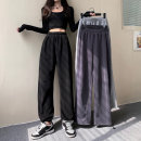 Women's large Winter 2020 Light grey regular, dark grey regular, black regular, light grey plush, dark grey plush, black plush M [recommended 90-110 kg], l [recommended 110-120 kg], XL [recommended 120-140 kg], 2XL [recommended 140-155 Jin], 3XL [155-170 Jin recommended] trousers thickening pocket