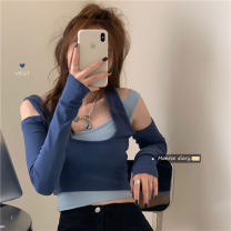 Women's large Summer 2020, autumn 2020 Blue, black L [100-120 Jin recommended], XL [120-140 Jin recommended], 2XL [140-160 Jin recommended], 3XL [160-180 Jin recommended], 4XL [180-200 Jin recommended] commute Long sleeves Korean version have cash less than that is registered in the accounts other