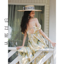 Dress Summer 2021 Spot sale S,M,L longuette singleton  Sleeveless commute other High waist Decor Socket A-line skirt other 18-24 years old Type H since then Retro CQ210133