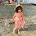 Dress female Other / other 80cm,90cm,100cm,110cm,120cm,130cm Cotton 60% other 40% spring and autumn Korean version Long sleeves other cotton Splicing style Class A 12 months, 18 months, 2 years old, 3 years old, 4 years old, 5 years old, 6 years old Chinese Mainland Zhejiang Province