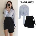 Fashion suit Summer 2021 S,M,L,XL White, apricot, blue, black, khaki 18-25 years old 51% (inclusive) - 70% (inclusive) cotton