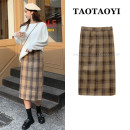 skirt Winter 2020 S. M, l, XL, one size fits all Orange plaid skirt, yellow plaid skirt, white sweater Mid length dress commute High waist skirt lattice Type H 18-24 years old 71% (inclusive) - 80% (inclusive) Wool zipper Korean version