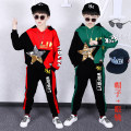 suit Other / other Green, red, green, green, red, red male spring and autumn Cartoon Long sleeve + pants 2 pieces routine There are models in the real shooting Socket No detachable cap Cartoon animation cotton children Expression of love H-yun2019 five star Pearl tablets Class B Chinese Mainland