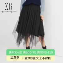 skirt Winter 2020 34/155/S 36/160/M 38/165/L 40/170/XL black Mid length dress grace Natural waist Irregular Type A 30-34 years old XG403787A890 71% (inclusive) - 80% (inclusive) XG / snow song Viscose Viscose (viscose) 71.9% polyester 28.1%