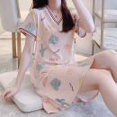 Yoga clothes M, l, XL, XXL Cactus nightdress, pink plum nightdress, yellow plum nightdress, green plum nightdress, pineapple nightdress, radish rabbit nightdress, sunflower nightdress, pig nightdress, Sesame Street nightdress female Other / other suit female sex