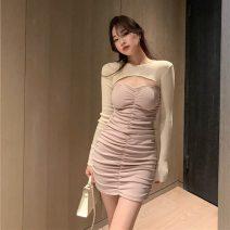Fashion suit Autumn 2020 Average size Apricot top 9085, black top 9085, apricot bra skirt 6219, black bra skirt 6219# 18-25 years old 31% (inclusive) - 50% (inclusive) cotton