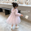 Dress Pink female Class two 100cm (recommended height is about 100), 110cm (recommended height is 100-110), 120cm (recommended height is 110-120), 130cm (recommended height is 120-130), 140cm (recommended height is 130-140) Other 100% spring and autumn Korean version Long sleeves Dot other other