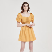 Dress Summer 2020 yellow XS,S,M,L,XL 25-29 years old