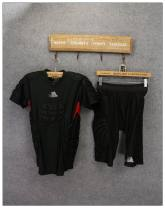 Sports T-shirt Other / other XXL (adult), XL, l, m, s, XS Short sleeve male Crew neck TAD19270 Coat (small defects), trousers (small defects) Tight fitting Breathable, ultra light, quick drying letter