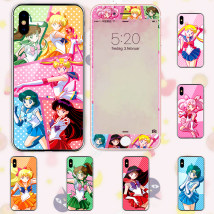 "Mobile phone / digital animation appliances Mobile phone case / set Sailor Moon Over 14 years old May hare little rabbit Venus Jupiter Mercury Mars matching toughened film 6 / 6S 4.7 ""6p / 6plus 7 / 8 4.7"" 7p / 8plus iPhone x Pure hope Tsukino Usagi"