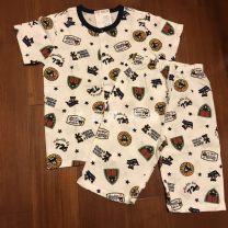 Home suit mikiumkee 80cm,90cm,100cm,110cm,120cm,130cm summer male Cotton 100% 12 months, under 1 year old, 18 months, 2 years old, 3 years old, 4 years old, 5 years old, 6 years old, 7 years old, 8 years old Home cotton Class A *