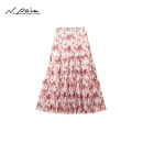 skirt Summer 2021 S M L XL Middle-skirt grace Natural waist Pleated skirt Broken flowers Type A 30-34 years old 91% (inclusive) - 95% (inclusive) Chiffon N. PAIA / enpaya silk Mulberry silk 91% polyurethane elastic fiber (spandex) 9% Same model in shopping mall (sold online and offline)