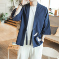 Jacket Other / other Youth fashion thin easy Other leisure Four seasons three quarter sleeve Wear out No collar Chinese style Large size routine 2019 Cloth hem washing Solid color Embroidery cotton