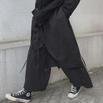 Casual pants black M, L Autumn of 2019 trousers Wide leg pants High waist original routine 51% (inclusive) - 70% (inclusive) Asymmetry