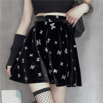 skirt Summer 2021 S,M,L black Mid length dress Versatile other Solid color 51% (inclusive) - 70% (inclusive) other other