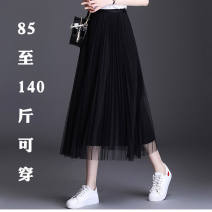 skirt Summer 2021 M for 75 - 100 Jin , L for 100 - 120 Jin , XL for 120 - 137 Jin , There is a discount, contact customer service has a surprise! longuette Sweet High waist Pleated skirt Solid color Type A 18-24 years old 31% (inclusive) - 50% (inclusive) other other Pleated, pleated, solid