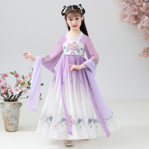 Tang costume Purple send tassel + eyebrow paste, purple send tassel + eyebrow paste + ribbon 110,120,130,140,150,160 Polyester 100% female summer There are models in the real shooting Thin money My diary polyester fiber Class B Solid color Cotton liner 7, 8, 14, 3, 6, 13, 11, 5, 4, 10, 9, 12