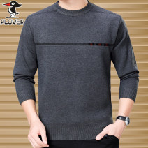 T-shirt / sweater Woodpecker Business gentleman Grey, red, camel, navy thickening Socket Crew neck Long sleeves winter easy 2018 Wool 100% business affairs Business Casual middle age routine Solid color No iron treatment Fine wool (16 and 14 stitches) Pure wool (95% or more) jacquard weave