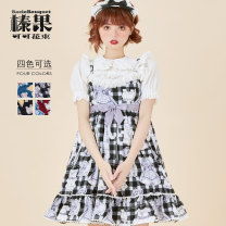 Lolita / soft girl / dress Bacio bouquet hazelnut cocoa bouquet Black, red, blue, black and white L,M,S